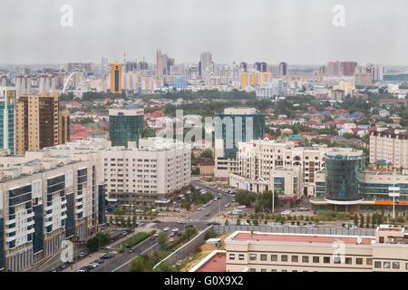 Aerial panorama of Astana, Kazakhstan - Stock Photo