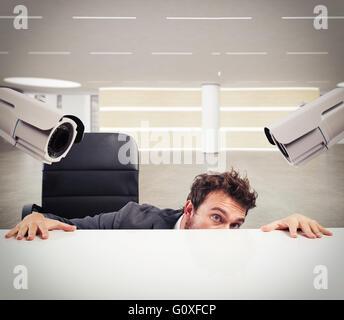 Hiding by the monitoring circuit - Stock Photo