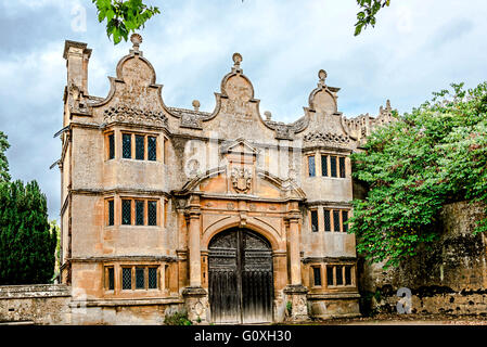 Stanway house, garden and church in Gloucestershire, England, UK - Stock Photo