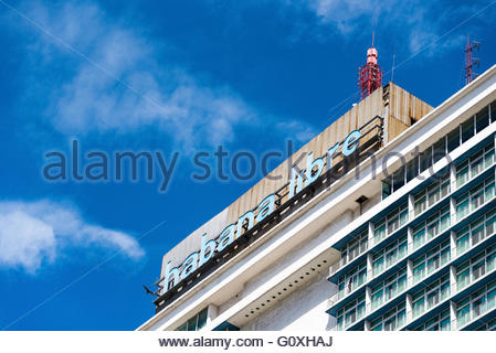 Havana Libre hotel: Resort enjoyed by tourists and locals for its luxurious interior design. - Stock Photo