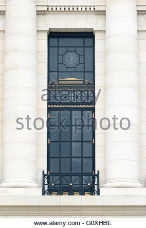 Capitol Building or El Capitolio exterior architectural details. The tourist attraction  was the seat of government - Stock Photo