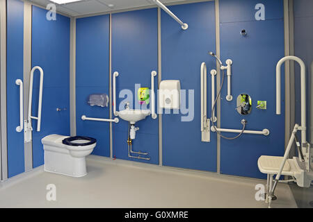 Disabled toilet room with grab rails stock photo royalty - Disabled shower room ...