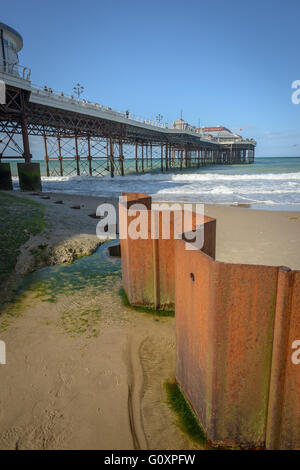 Cromer Pier and beach on the Norfolk Coast, England - Stock Photo