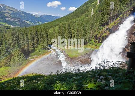 A rainbow over the Krimml Waterfalls Austria