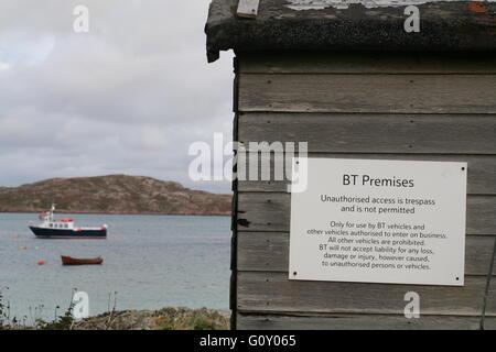 Wooden shed on Isle of Iona, Argyll, Scotland - Stock Photo