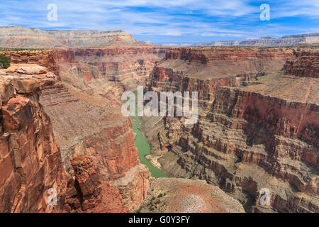 colorado river viewed from saddle horse trail at toroweap overlook in grand canyon national park, arizona - Stock Photo