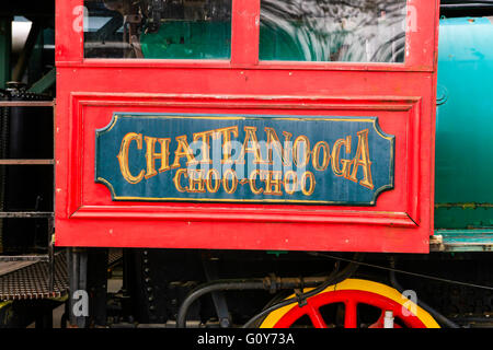 The Chattanooga Choo-Choo train at the former Terminal Station in Tennessee - Stock Photo