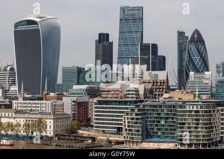 London, UK. 6th May, 2016. The City of London, seen from City Hall. - Stock Photo