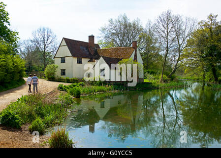 Willy Lott's Cottage, a National Trust property at Flatford, Essex, England UK - Stock Photo
