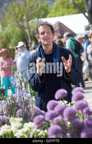 Monty Don recording BBC Gardeners World at The RHS Malvern Show - Stock Photo