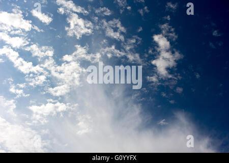 High cirrus clouds middle level altocumulus and altostratus   low stratus cumulonimbus  cloud formations  in   Australian - Stock Photo