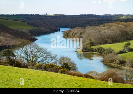 The Helford river near Constantine in Cornwall, UK - Stock Photo