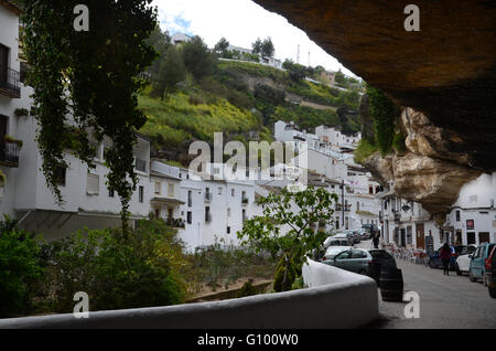 Setinel de Bodegas a 'rocky' village in Andalucia Spain Europe - Stock Photo