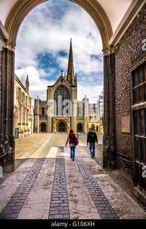 England Norfolk Norwich The Erpingham Gate to the cathedral grounds - Stock Photo