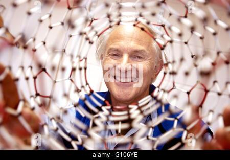 Sir Harry Kroto, Nobel Prizewinning Chemist, Sussex University, Brighton, Sussex, UK. He died in April 2016. - Stock Photo