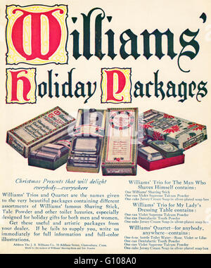 Original old vintage American magazine full page colour advert from the Edwardian era dated 1910. Advertisement - Stock Photo