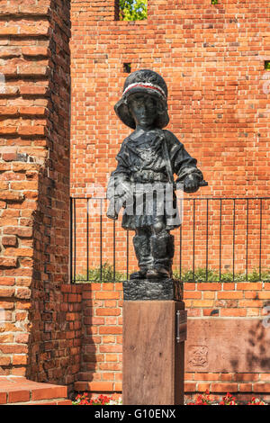 The monument of the Little Insurgent (Pomnik Malego Powstanca), Warsaw, Masovian, Poland, Europe - Stock Photo