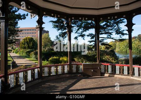 Belper river gardens Derbyshire - Stock Photo
