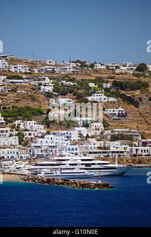 View Of Mykonos From Cruise Ship Stock Photo Royalty Free