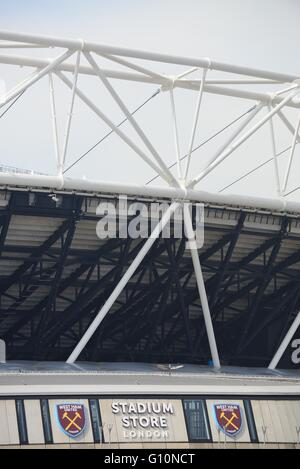 West Ham United Football Club Stadium Store at the Olympic Stadium, Stratford, London - Stock Photo