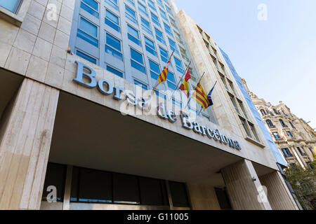 Borsa de Barcelona stock exchange building facade.Barcelona Stock Exchange - Stock Photo