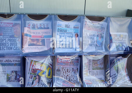 London, UK, 6 May 2016, Daily newspaper the New Day final edition on Friday, just nine weeks after it was launched. - Stock Photo
