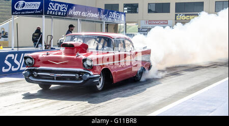 Sydney, Australia - 7th May 2016: Nitro Champs Day 1 at the Sydney Dragway featured the 400 Thunder Pro devision - Stock Photo