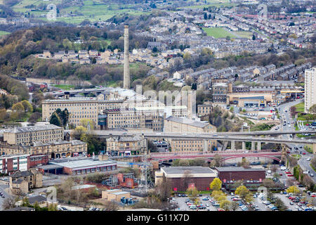Cityscape view, of Halifax, Calderdale, West Yorkshire, UK - Stock Photo