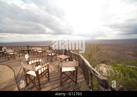Wide Landscape View Of The Lumo Conservancy In Kenya - Stock Photo