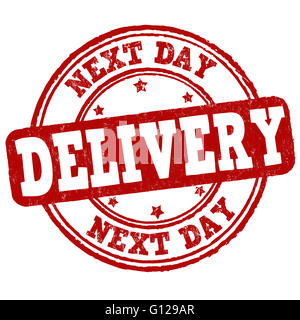 Next day delivery grunge rubber stamp on white background, vector illustration - Stock Photo