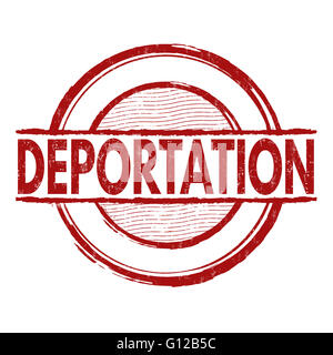 Deportation grunge rubber stamp on white background, vector illustration - Stock Photo