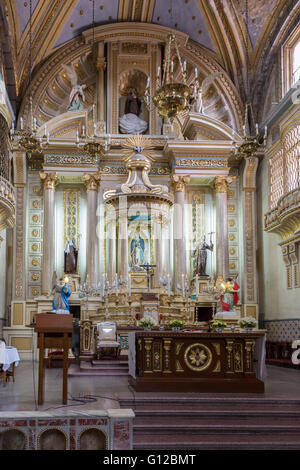 Templo de Santa Clara  is a 17th century Roman Catholic church located in Puebla, Mexico - Stock Photo