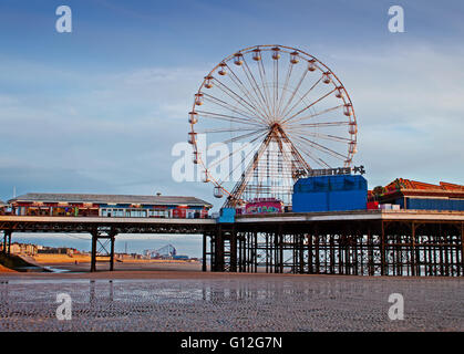 The big wheel on Blackpool's Central Pier - Stock Photo