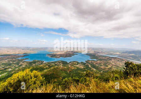 Inanda Dam viewed from Inanda mountain - Stock Photo