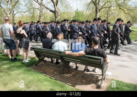 .Hyde park. Pic Shows The Annual parade of the Combined Cavalry Old Comrades consisting of serving and former - Stock Photo