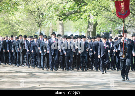 Hyde park. Pic Shows The Annual parade of the Combined Cavalry Old Comrades consisting of serving and former - Stock Photo