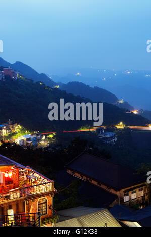 Taiwan, Jiufen, tea houses - Stock Photo