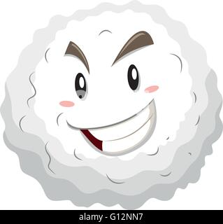 White blood cell with happy face illustration - Stock Photo