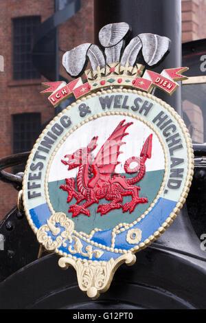 Feestiniog & Welsh Highland Railway in Liverpool, Merseyside, UK - Stock Photo