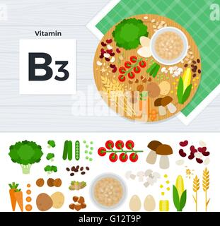 Products with vitamin B3 - Stock Photo