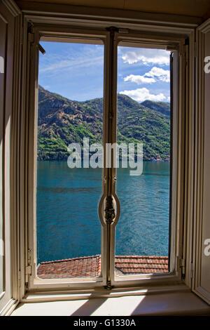 The Villa del Balbianello on Lake Como Italy - Stock Photo