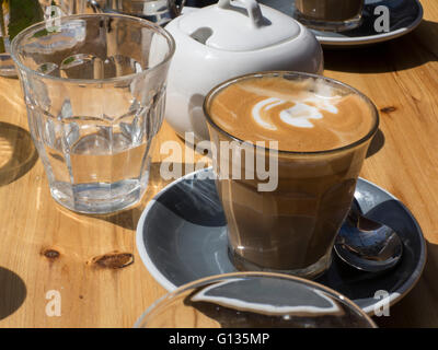 Coffee in a cafe - Stock Photo
