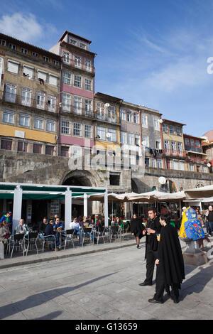 Porto in Portugal, traditional Portuguese houses, historic city centre, UNESCO World Heritage Site - Stock Photo