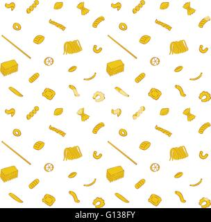 Vector illustration of seamless Pasta Collection Pattern Background - Stock Photo