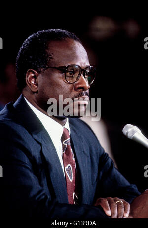 Washington, DC., USA, 10th September, 1991 Clarence Thomas appears before the Senate Judiciary Committee Credit: - Stock Photo