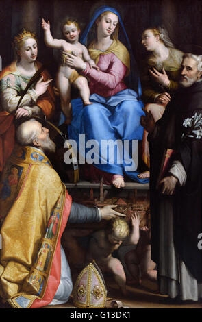 Raphael Madonna and Child Enthroned with Saints