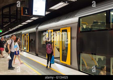 King's Cross Station on Sydney Train Network, King's Cross, Sydney, New South Wales, Australia - Stock Photo