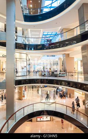Interior atrium of Westfield Shopping Centre, Bondi Junction, Sydney, New South Wales, Australia - Stock Photo