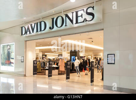 Entrance to David Jones department store, Westfield Shopping Centre, Bondi Junction, Sydney, New South Wales, Australia - Stock Photo