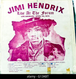 Classic album artwork (Vinyl) Jimi Hendrix Experience, Bootleg 'Live at the Forum, 1970' (Front) - Stock Photo